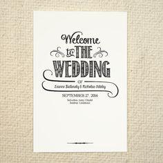 DIY Wedding Program / Order of Service - Handlettered Rustic Love - Printable… Wedding Paper, Wedding Cards, Our Wedding, Wedding Ideas, Wedding Verses, Wedding Inspiration, Summer Wedding, Wedding Stuff, Destination Wedding