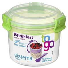 Sistema To Go Collection Breakfast Bowl Food Storage Container, 17.9 Ounce | eBay