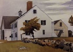 House in Essex. (( Massachusetts )) 1920s by Edward Hopper