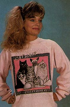 cat lady sweater. This picture is awesome.