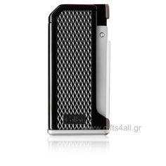 Μοναδικός αναπτήρας αερίου Colibri - Μonza I σε ματ μαύρο χρώμα με αναδυόμενο ασημί φινίρισμα και με λαβή pachmayr. Είναι ένα νέο μοντέλο από την Colibri αντιανεμικός, μονής ανάφλεξης και στην πίσω πλευρά του υπάρχει δοχείο στο οποίο φαίνεται το καύσιμο του αναπτήρα. Smokers, Convenience Store, Gifts, Convinience Store, Favors, Presents, Gift