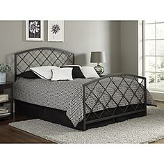 $180   Bring style and sophistication to your bedroom with this Landon king-size bed. This brilliant metal bed features a lovely graphite finish.