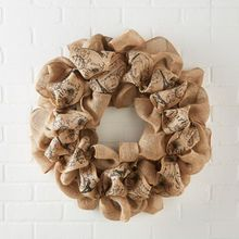 Natural Script Burlap Wreath