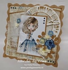 Scrapbook card by Pretty Presents | Princess Rose Red by at www.prettypresents.nl