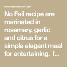 No Fail recipe are marinated in rosemary, garlic and citrus for a simple elegant meal for entertaining. Ideal to serve at summer and fall gatherings. Lamb Chop Recipes, Grilled Lamb Chops, Grilled Chicken Salad, Chops Recipe, Fails, Grilling, Garlic, Entertaining, Elegant