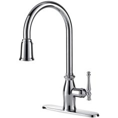 Give your kitchen an instant makeover with the Giordana pull down kitchen faucet by Fontaine.