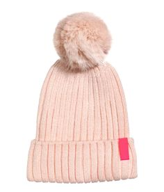 06992319029 Rib-knit hat with an appliqué on cuff and a faux