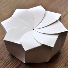 Origami Box | linen and milk