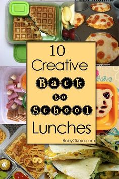 10 Creative Back to School Lunches
