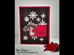 Holiday Card Series 2014 #20 Newton's Nook Designs Inky Paws with Embossing Paste Alternative - YouTube