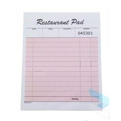 These pads are perfect for use in a bar, restaurant or cafe for taking food/drunk orders. Date, Book Stationery, Stationary, Baby Sleep Positioner, Cover Sheet Template, Boppy Nursing Pillow, Domain Hosting, Letter Sample, Restaurant