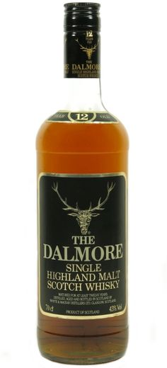 Official bottling of 12 yo Dalmore Single Highland Malt Scotch from 80's