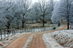 frost and road