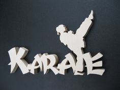 KARATE GIRL Wood Wall Or Free Standing Decor by ScrollMasterDesigns