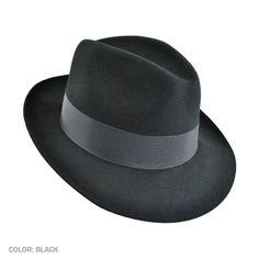468461fb04a04 Stetson Temple Fur Felt Fedora Hat Mens Dress Hats