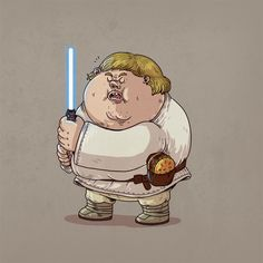 Chunky skywalker famous chunkies - alex solis fat cartoons l Cartoon Cartoon, Fat Cartoon Characters, Superman Characters, Star Wars Characters, Fat Character, Comic Character, Cultura Pop, Alex Solis, Star Wars Drawings