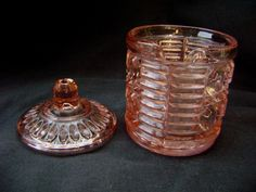 Vintage Pink Depression glass Jam or Jelly server by TimeWornDolly, $18.00