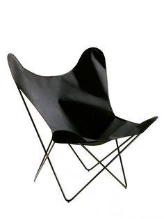 Sessel Butterfly Chair Baumwolle, schwarz, schwarz