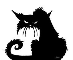 DAVE LOWE DESIGN the Blog - cat silhouette. Think this is going to be my 2014 window in the study with the witch hats...