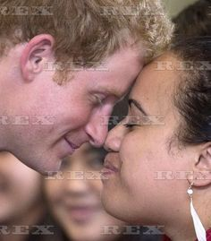Prince Harry visit to New Zealand - 13 May 2015  Prince Harry performs Hongi Maori greeting with members of NZ Army  13 May 2015