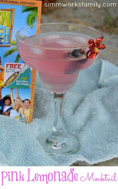 Pink Lemonade Mocktail for a Disney Teen Beach Movie Party Drink