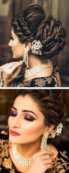 36 Ideas Wedding Party Hairstyles Indian For 2019 Bridal Hairstyle Indian Wedding, Hairdo Wedding, Indian Wedding Hairstyles, Bride Hairstyles, Trendy Hairstyles, Wedding Photoshoot, Hairstyles With Lehenga, Wedding Blog, Diy Wedding