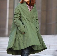 asymmetrical shawl padded Cloak coat by MaLieb on Etsy, $139.00
