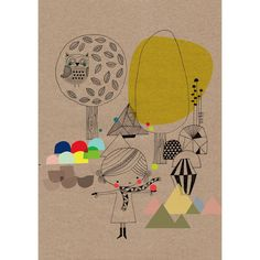 Forest Print by Swantje and Frieda
