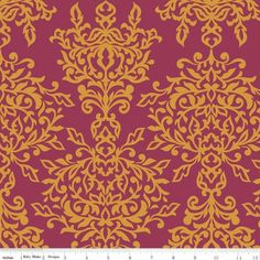 Botanique Damask Berry  Width: 112cm 100% Cotton Priced by the metre and sold in 25cm increments.