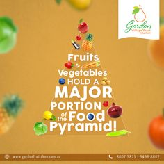 The Food Pyramid! Have you heard of this? If not, do have a sneak peek at it and get to know the vital importance of fruits and vegetables in your daily diet.  Visit our Website: www.gordonfruitshop.com.au  #HealthyLiving #EatHealthy #FreshFruits #FreshVegetables #FreshFromFarm #OrganicFruits #OrganicVegetables Organic Vegetables, Fruits And Vegetables, Food Pyramid, Fresh Fruit, Healthy Living, Diet, Christmas Ornaments, Website, Holiday Decor