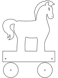 Ancient Greece Crafts, School Projects, Art Projects, Horse Template, Activities For Kids, Crafts For Kids, Apple Unit, Trojan Horse, Baby Drawing