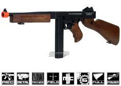 King Arms Full Metal / Fake Wood M1A1 Thompson AEG Airsoft Gun *