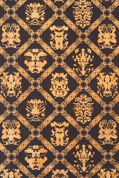 Rorschach wallpaper is a clean, modern take on a damask built from Warhol's ink blot paintings