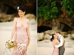 Wedding at Karma Kandra Ungasan Bali - Lani & Stig - pink wedding gown Sequin Prom Dresses, Mermaid Prom Dresses, Homecoming Dresses, Bridal Dresses, Formal Dresses, Pink Wedding Gowns, Pink Gowns, Bali Wedding, Wedding Bride