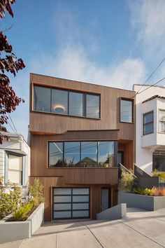 Noe Valley House was completed in 2016, and comprises four bedrooms distributed on three levels. The basement accommodates a two-car garage, and a rooftop terrace overlooks the San Francisco Bay area.