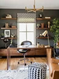 50 Home Office Design Ideas That Will Inspire Productivity Tags Home Office D Contemporary Home Office Contemporary Apartment Coastal Living Room Furniture