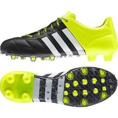 adidas Ace 15.1 Leather Firm Ground Football Boots Black