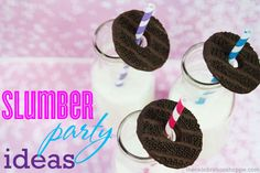 Slumber Party Ideas from blog.thecelebrationshoppe.com