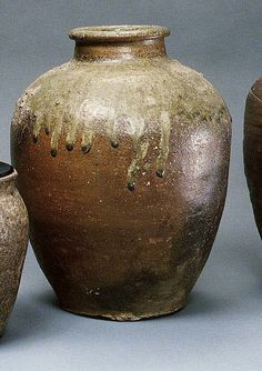Storage jar  Period: Muromachi period (1392–1573) Date: ca. 1500 Culture: Japan Medium: Stoneware with natural ash glaze (Tanba ware) Dimensions: H. 14 in. (35.6 cm) Classification: Ceramic