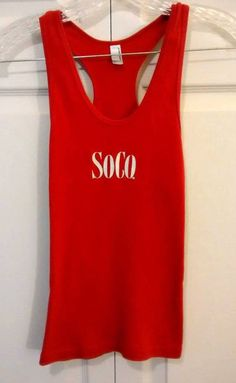 SOUTHERN COMFORT Ladies M Red Cotton Sleeveless Racerback Tank #AmericanApparel #RacerbackTankTop $6 @Ebay