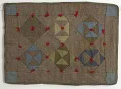 Mennonite Hourglass (or Bow-Tie) Doll Quilt. Circa 1920. PA. I can imagine a little gal tucking her baby in for a cozy nap. So sweet.