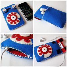Original Phone iPhone Case (blue/red)