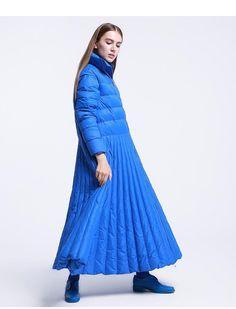 Women's Long Down Coat Skirt Style Plus Size Casual Warm for Autumn Winter Winter Fashion Outfits, Modest Fashion, Skirt Fashion, Winter Jackets Women, Coats For Women, Fashion 2020, High Fashion, Long Down Coat, Merian