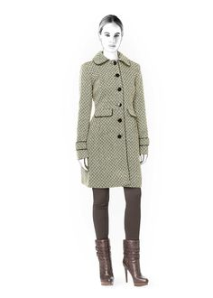 Coat - Sewing Pattern #4333. Made-to-measure sewing pattern from Lekala with free online download.