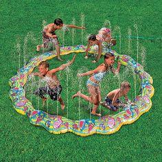 Ocean Friends Sprinkler Ring.  You put your left foot in, you take your right arm out...this intriguing sprinkler ring inspires all kinds of games and active play! And at 6 feet in diameter, it can entertain a crowd. Hooks to your garden hose, spraying water in every direction. Ring around the sprinkler!