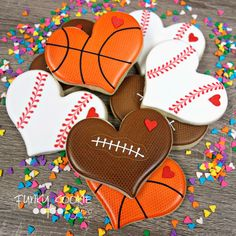Basket ball team treats snacks sugar cookies 65 ideas for 2019 Valentines Day Birthday, Valentines Day Cookies, Valentines For Boys, Birthday Cookies, Iced Sugar Cookies, Sprinkle Cookies, Cupcakes, Cupcake Cookies, Cookie Favors