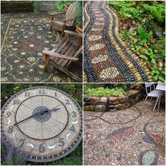 Magic pebble paths in the garden, inspired