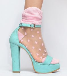 shoe. color. pale pink. baby blue. | RP » .
