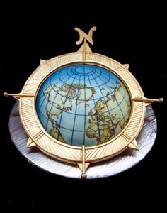 15 Globe and Map Cakes For Travel Lovers
