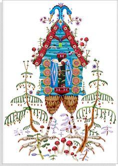 Klaus Haapaniemi Picture of Birdhouse (looks like Baba Yaga's house to me)